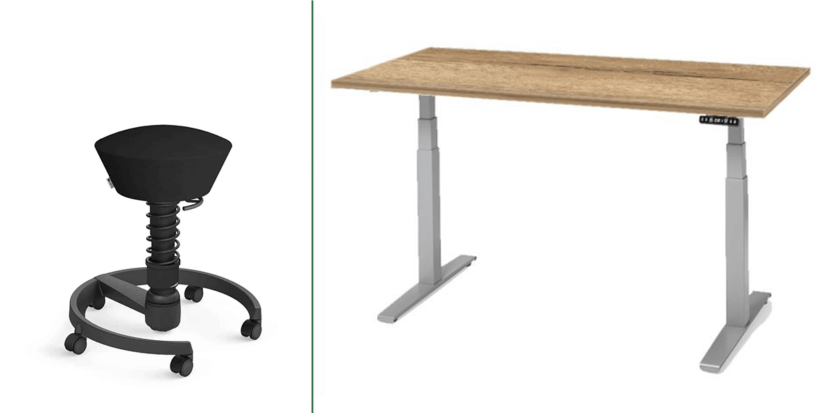 Swopper combinatie hooglaag bureau